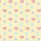 Yellow Tea Time background pattern Stock Images