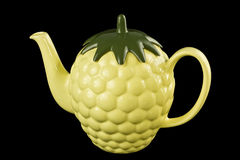 Yellow teapot Stock Photography