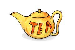 Yellow teapot stock image