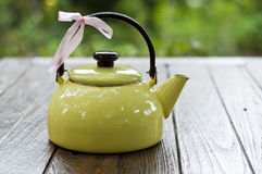 Yellow teapot. Royalty Free Stock Photography