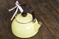 Yellow teapot. Stock Photo