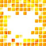 Yellow tech squares on white background Royalty Free Stock Images