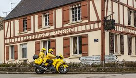 Yellow Technical Bike - Paris-Nice 2018 stock image