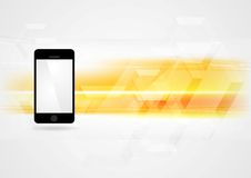 Free Yellow Technology Background With Smartphone Royalty Free Stock Images - 57932739