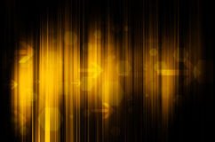 Yellow technology in black background Stock Photo