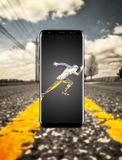 Yellow, Technology, Gadget, Mobile Phone royalty free stock photos
