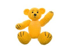 Yellow teddy bear Royalty Free Stock Image