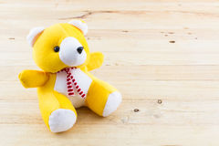 Yellow teddy bear toy. Royalty Free Stock Image