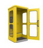 Yellow Telephone Booth Stock Photos