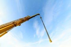 Yellow telescopic boom crane. Royalty Free Stock Photography