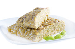 Yellow tempeh. Stock Photo