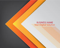 Yellow template brochure cover design Royalty Free Stock Photo