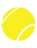 Yellow tennis ball Stock Photography