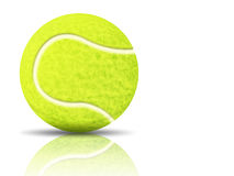 Yellow tennis ball Stock Images