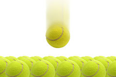 Yellow tennis ball. Stock Images