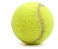 Yellow tennis ball Royalty Free Stock Photos