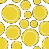 Yellow Tennis Ball Seamless Pattern Royalty Free Stock Photo