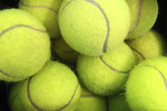 Yellow tennis balls Stock Image