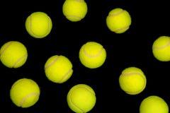 Free Yellow Tennis Balls On Black Royalty Free Stock Images - 13725529