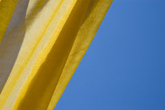 Yellow tent and blue sky Royalty Free Stock Images
