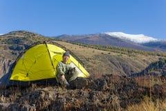 Yellow tent Royalty Free Stock Photo