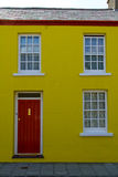 Yellow terraced house Royalty Free Stock Photography