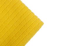 Yellow terry towel Stock Images
