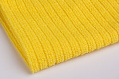 Yellow terry towel Royalty Free Stock Image
