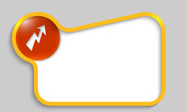 Yellow text box Stock Photos