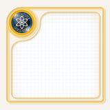 Yellow text frame stock illustration