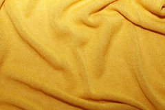 Yellow textile fabric texture Stock Photo