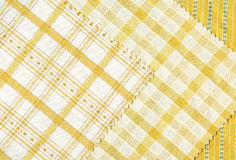 Yellow textile samples.. Stock Images