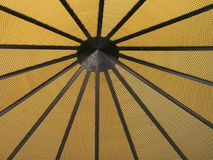 Yellow texture. Yellow gold black radial texture of mosque dome seen from inside stock image