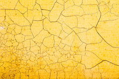 Yellow texture. crack Royalty Free Stock Photography