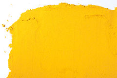 Yellow Texture made from turmeric Royalty Free Stock Image