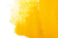 Yellow Texture made from turmeric stock image