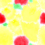 Yellow texture. Vector murble background. Watercolor hand drawn Stock Images