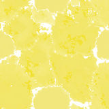 Yellow texture. Vector murble background. Watercolor hand drawn marbling illustration, aqua print. Bright colorfull stains. Watercolor splashes on the white Royalty Free Illustration