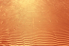 Yellow texture wave sand Stock Image