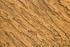Yellow textured decorative clay for interior. Work stock photo
