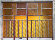 Yellow textured glass Royalty Free Stock Images