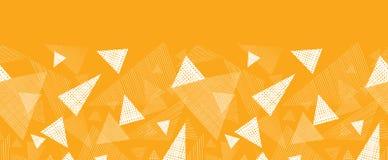 Yellow textured triangles horizontal border Stock Photos