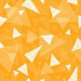 Yellow textured triangles seamless pattern Stock Photos