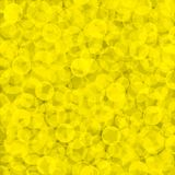 Yellow textured wallpaper. Yellow textured background covered with circles in different sizes Stock Photo