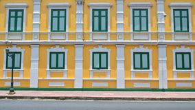 The Yellow Thai antique buildings Royalty Free Stock Photography