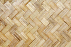 Yellow Thai bamboo wicker background Royalty Free Stock Images