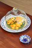 Yellow Thai sweetmeat Stock Image