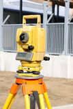 Yellow theodolite Royalty Free Stock Photo
