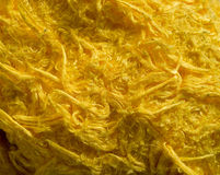 Yellow thick cloth fabric Stock Photo