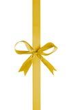 Yellow thin ribbon with bow Stock Image